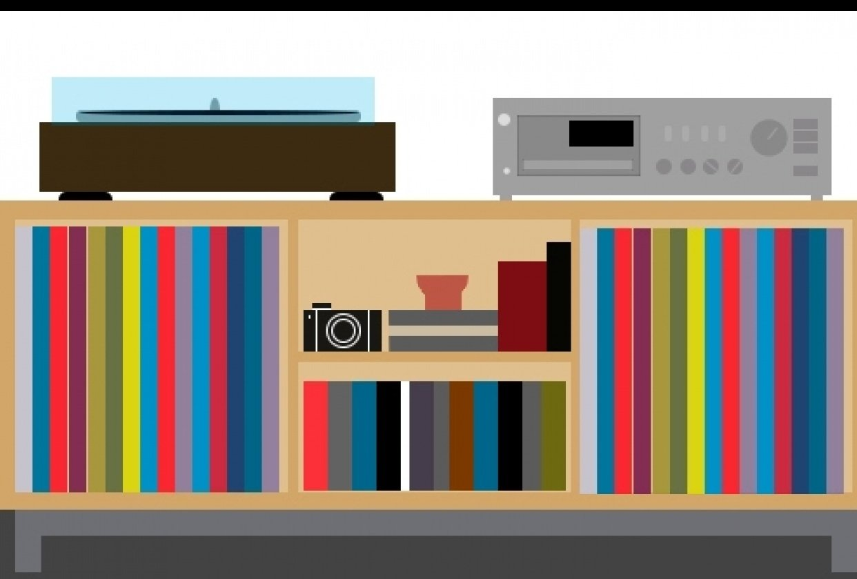 Simple Vinyl Shelf. - student project