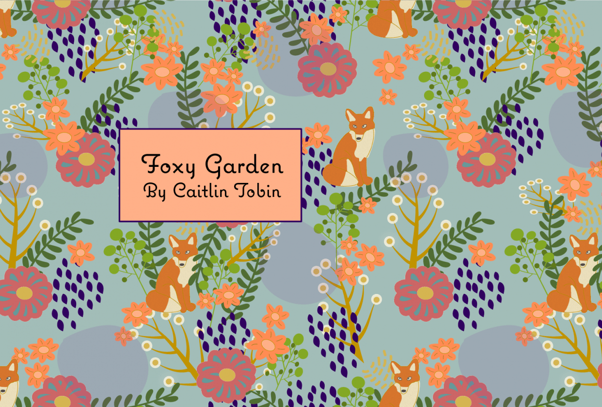 Foxy Garden Spoonflower Collection - student project