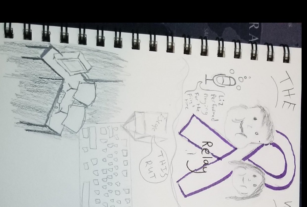 A few days meshed into one sketch - student project