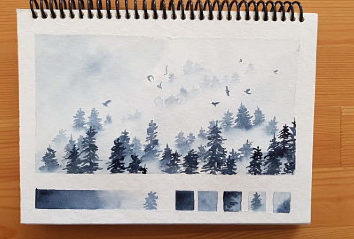 Payne's grey pines - student project