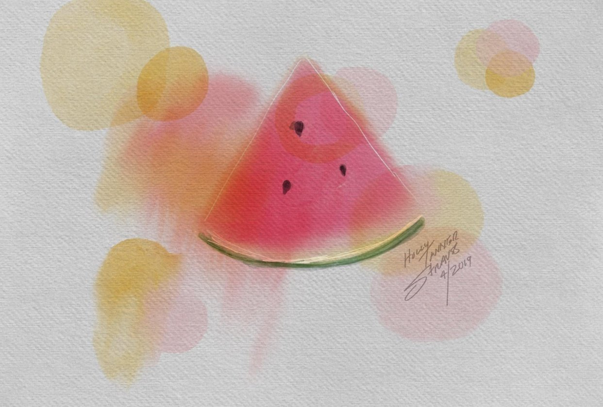 Shades of watermelon - student project
