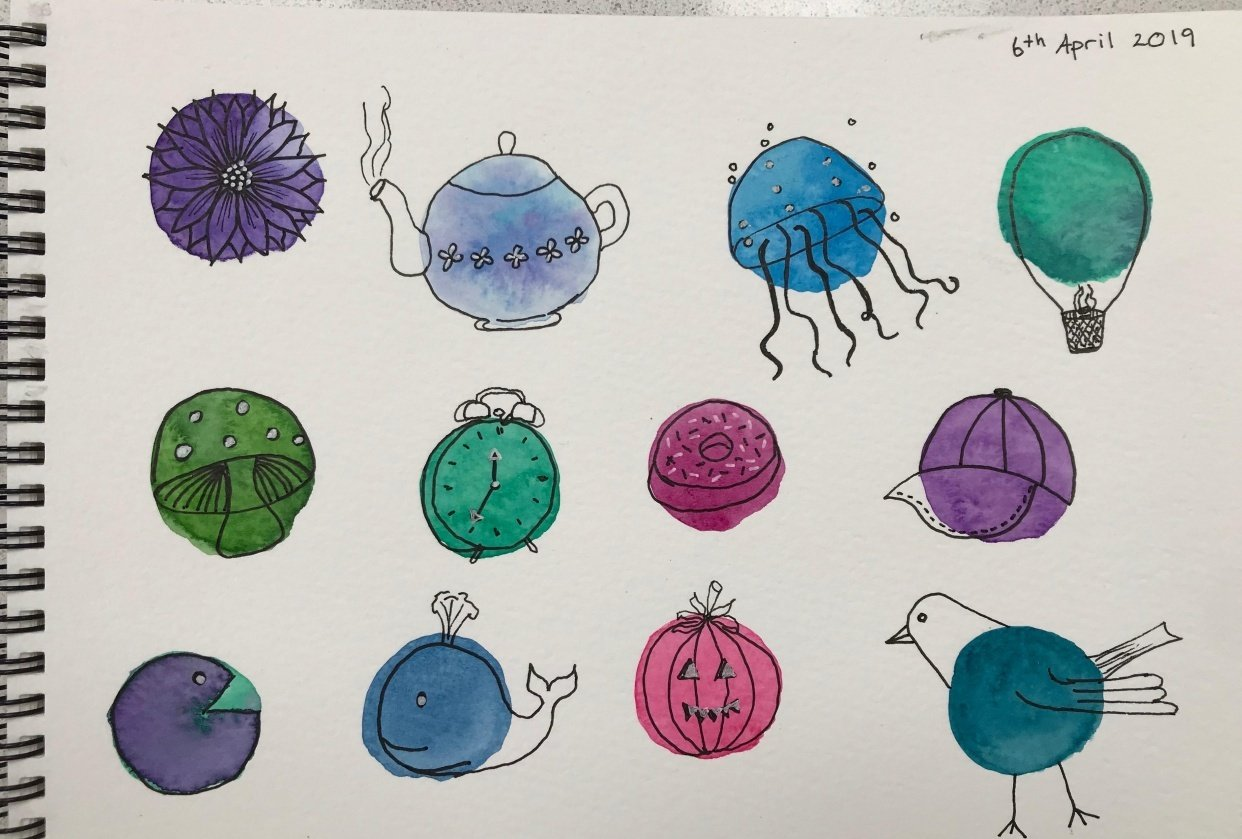 Watercolour blobs - student project