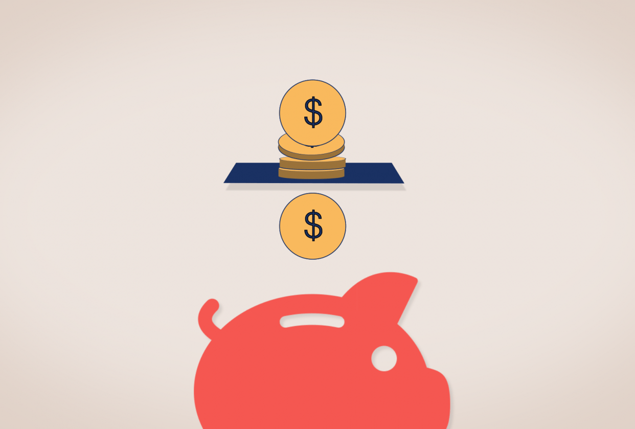 Piggy bank spitting coins - student project