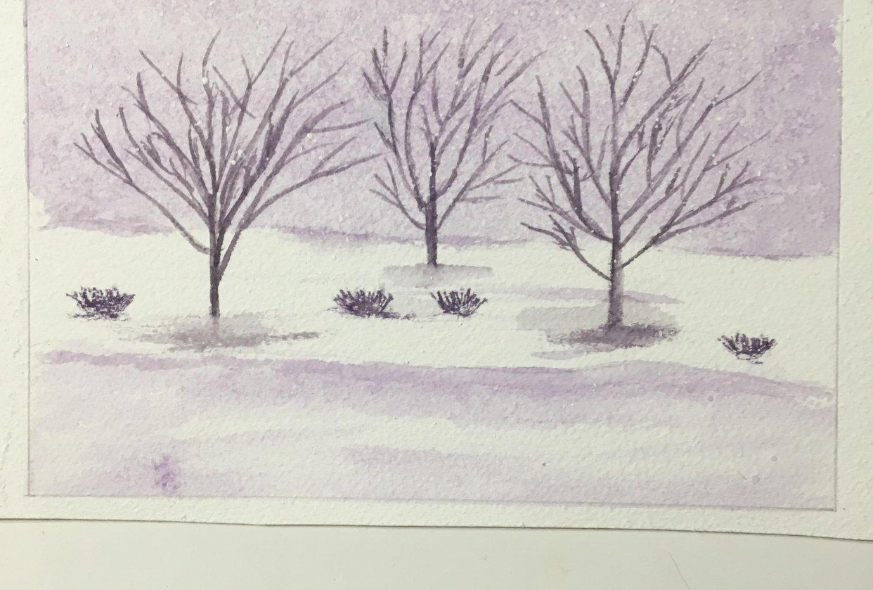 Purple Snowstorm - student project