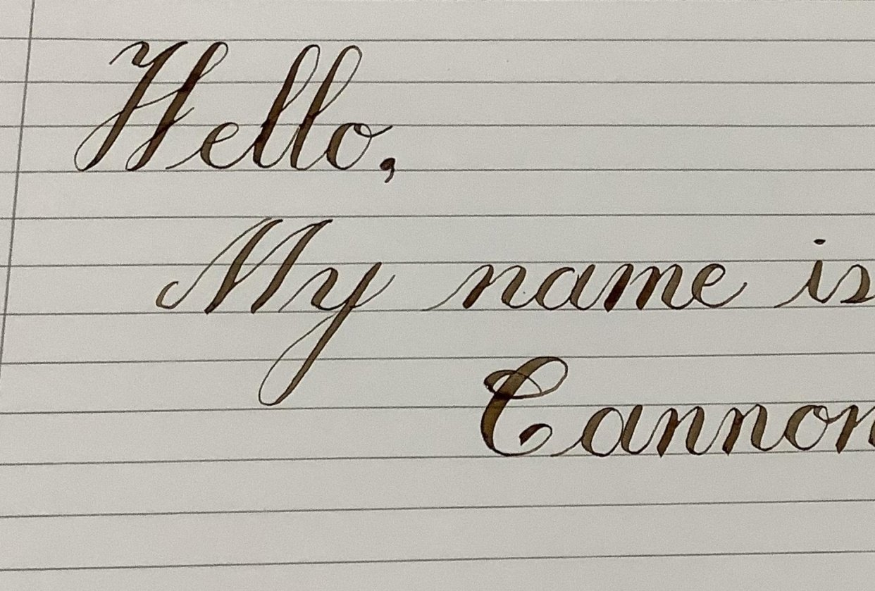 Hello, my name is Cannon. - student project