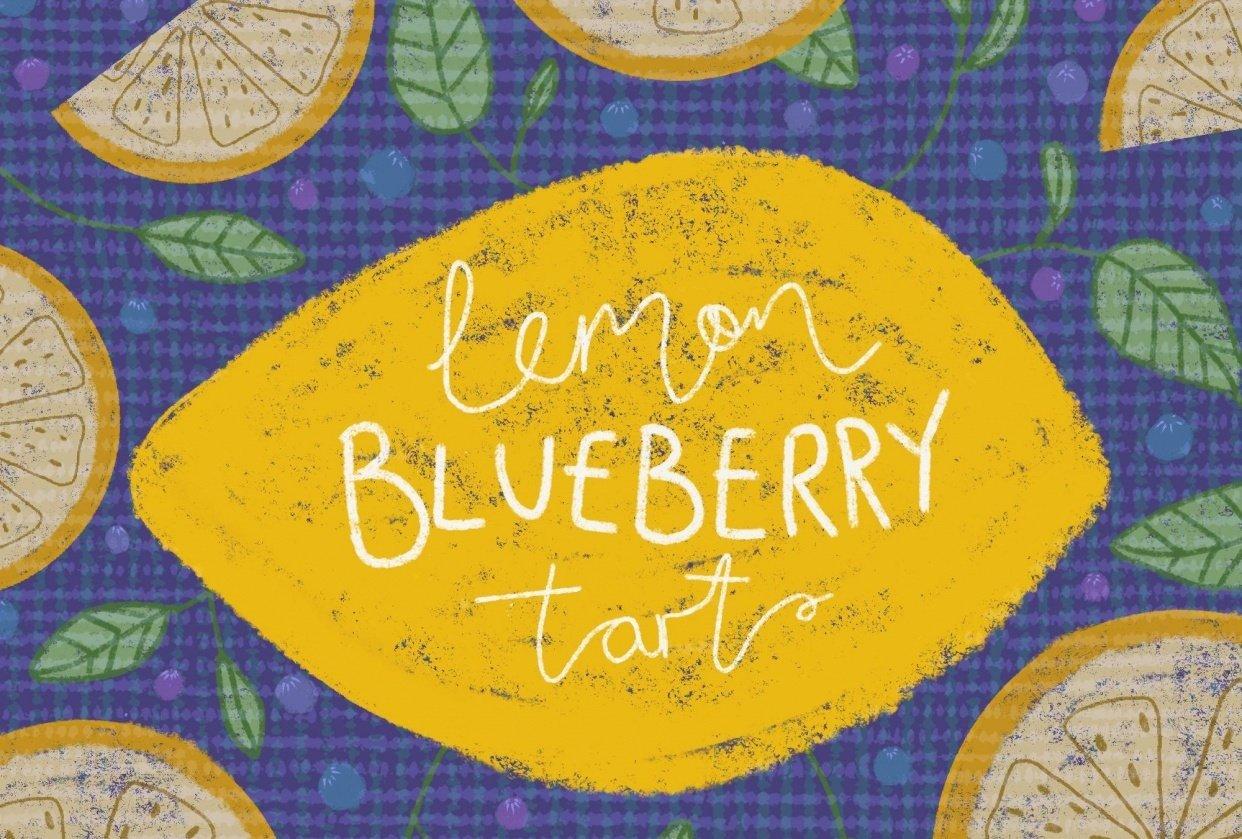 Lemon blueberry tart (cropped) - student project