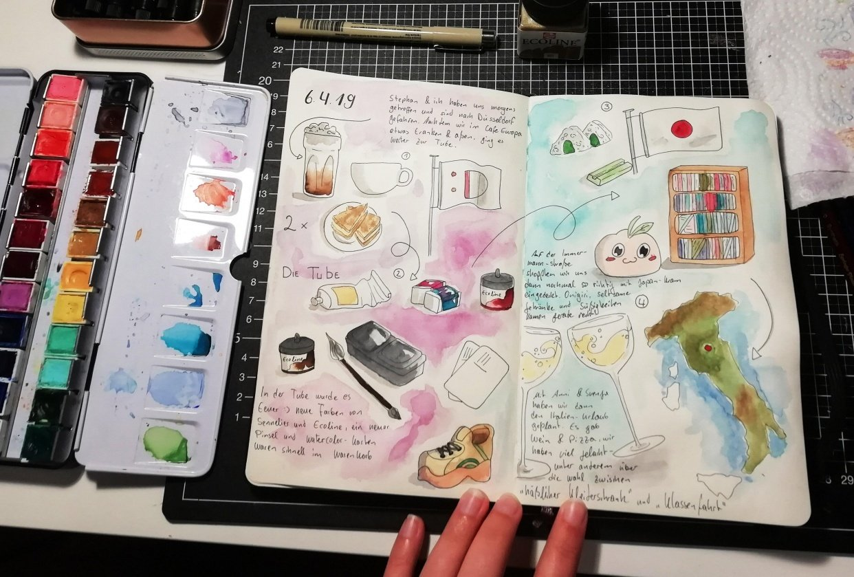My Weekend in a Sketch - student project