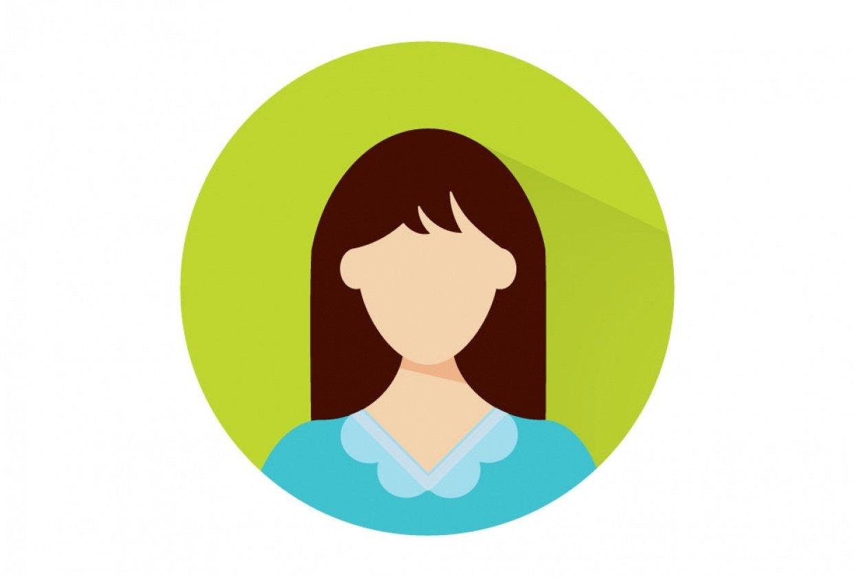 Flat Design Icon Portrait - student project