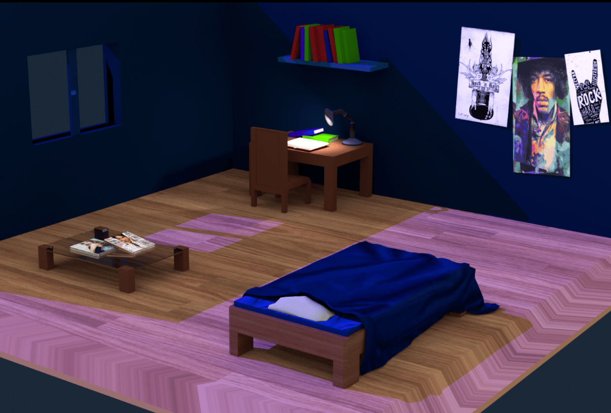 Low Poly Room - student project