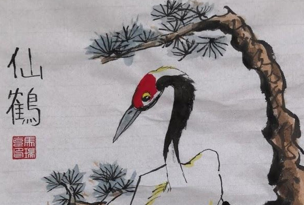 Chinese Red Crowned Crane - student project