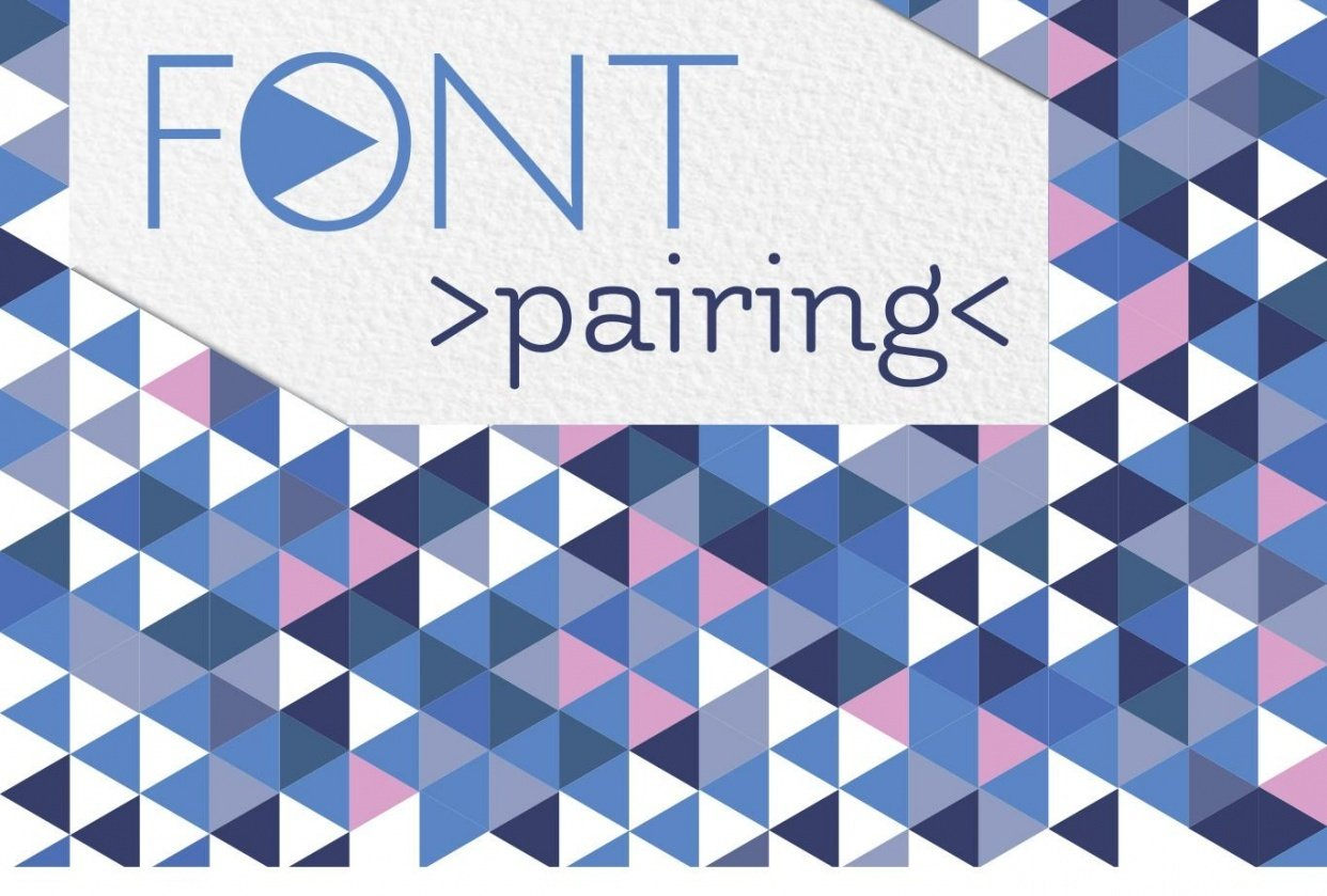 Font Pairing triangles - student project