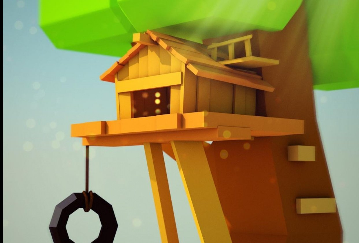 Low ploy tree house - student project