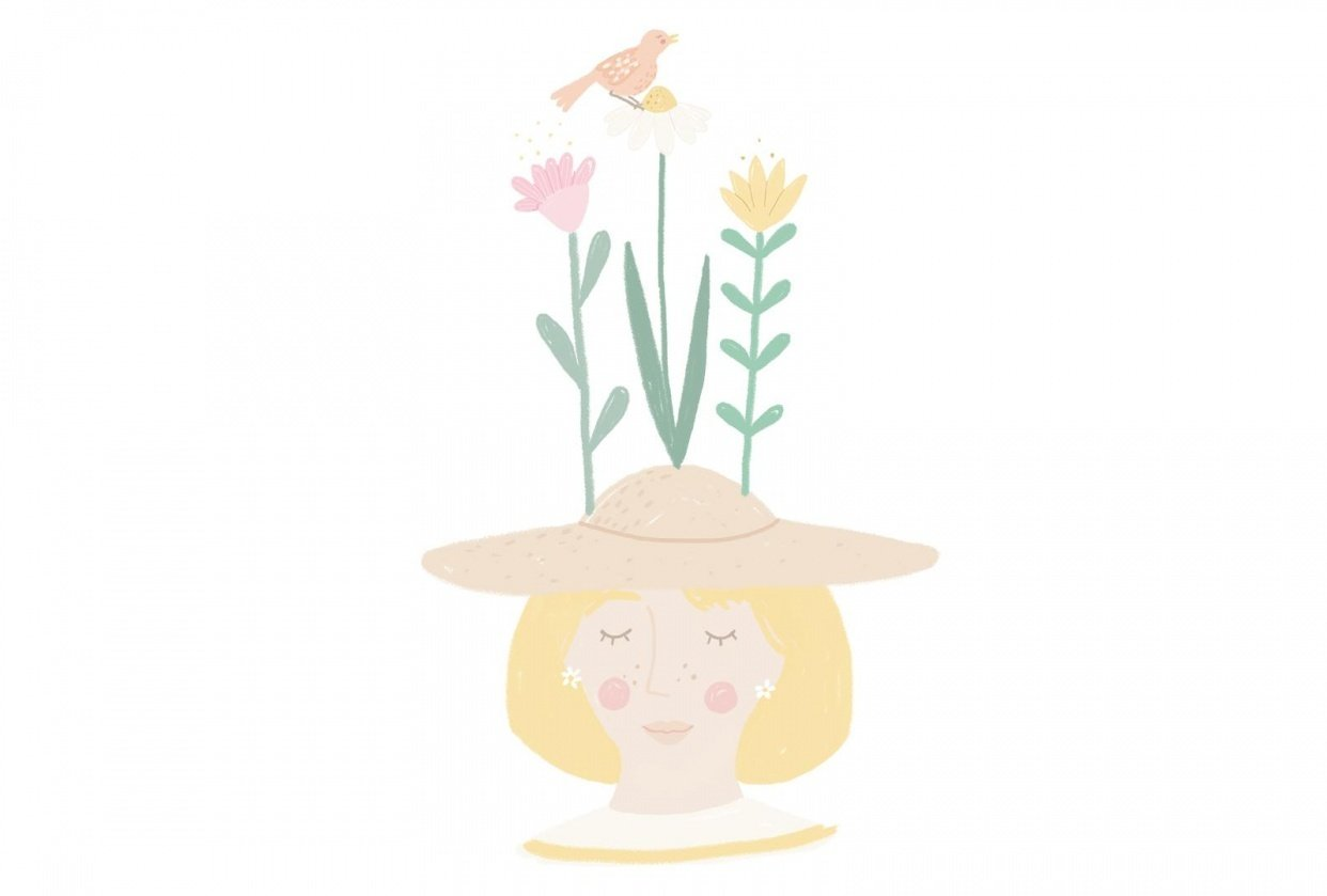 Garden Girl GIF - student project