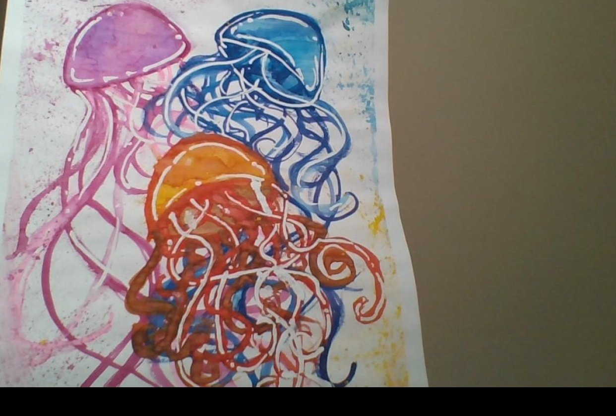 Jelly fish Painting - student project
