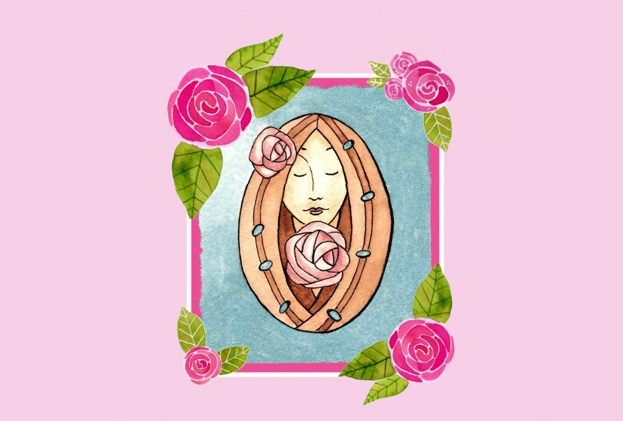 Glasgow Rose Girl - student project