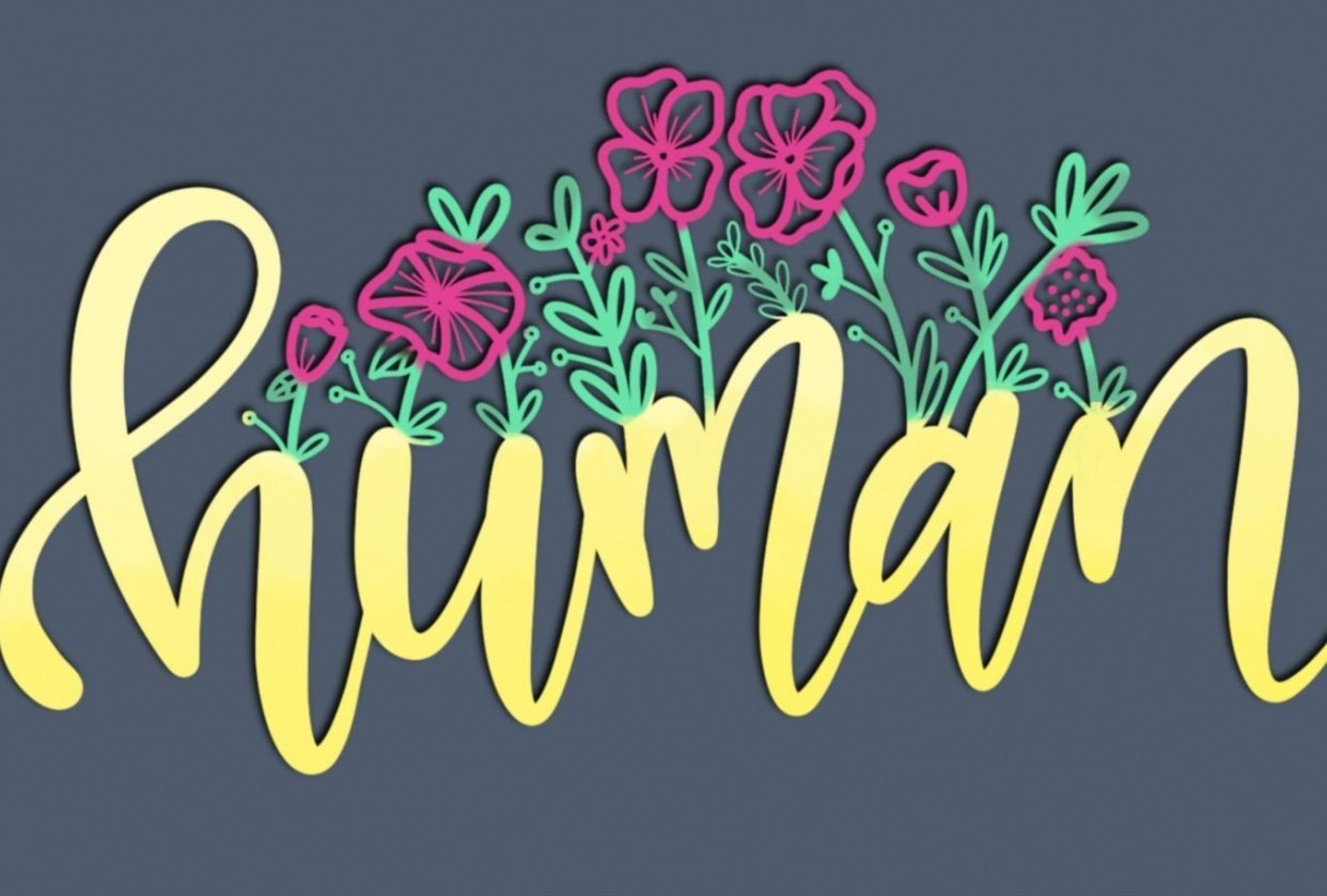 Handlettered and added several mix and match floral styles - student project