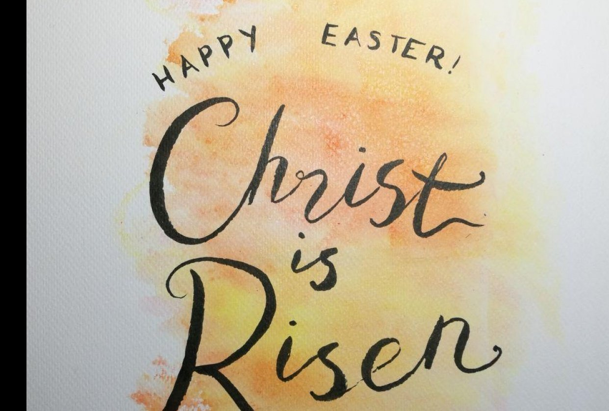 Easter lettering - student project