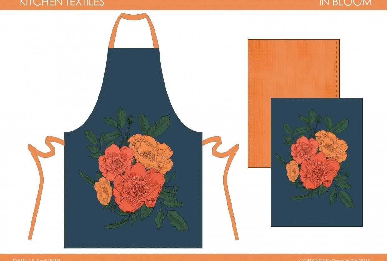 In Bloom Placement Print & Mock Up - student project