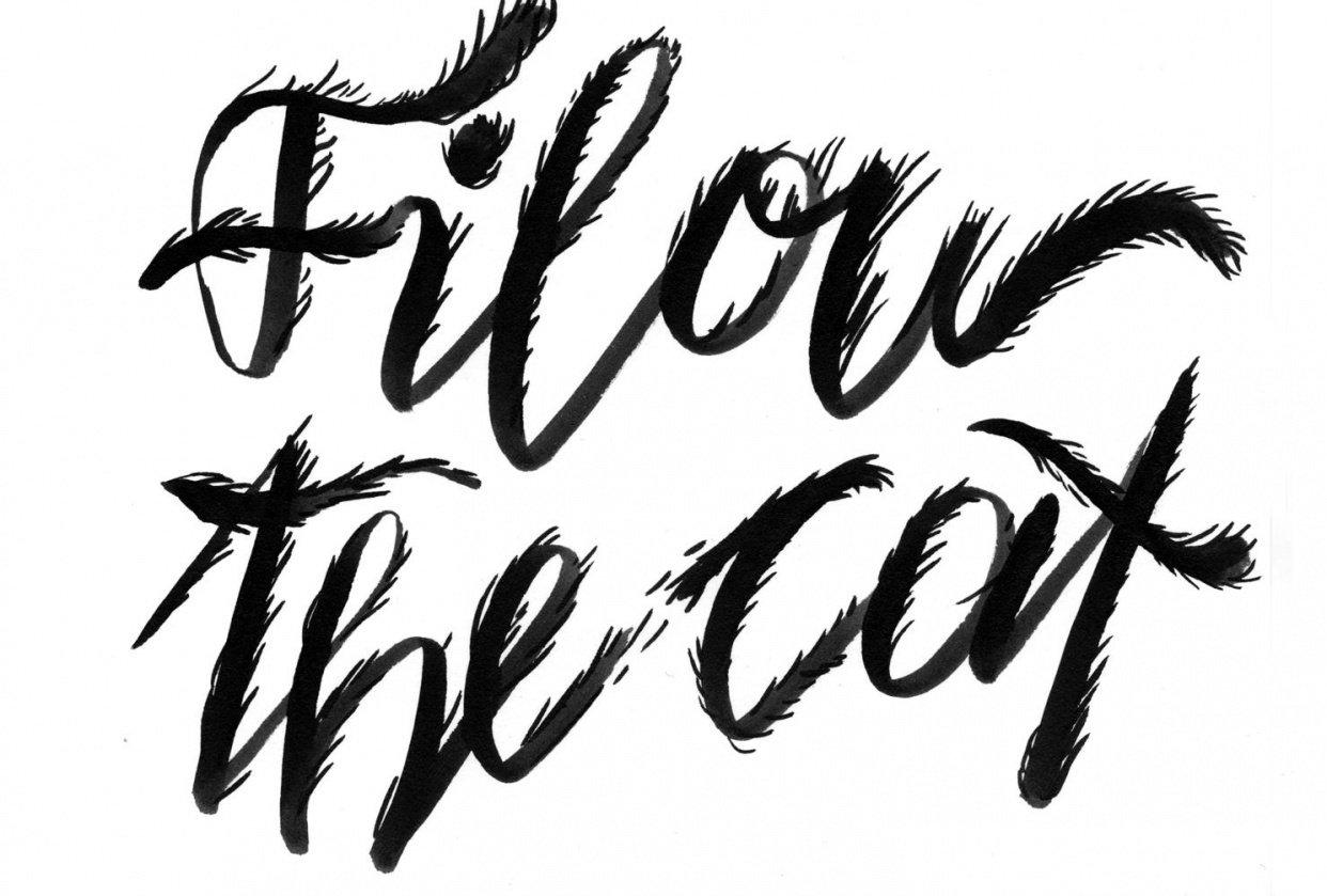 Brush Pen lettering - student project