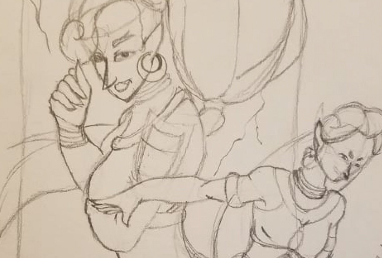 Doing some fanart - student project