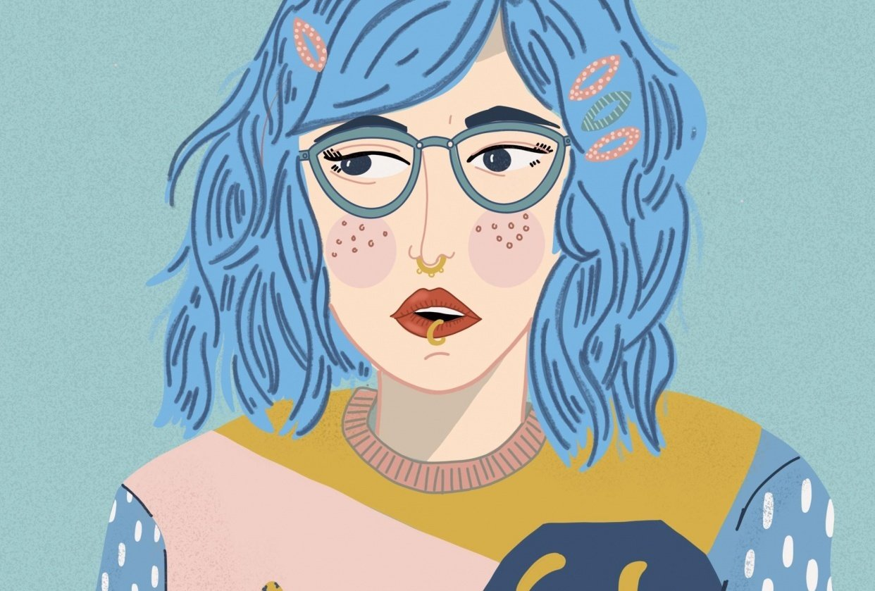 I wish I had blue hair. - student project