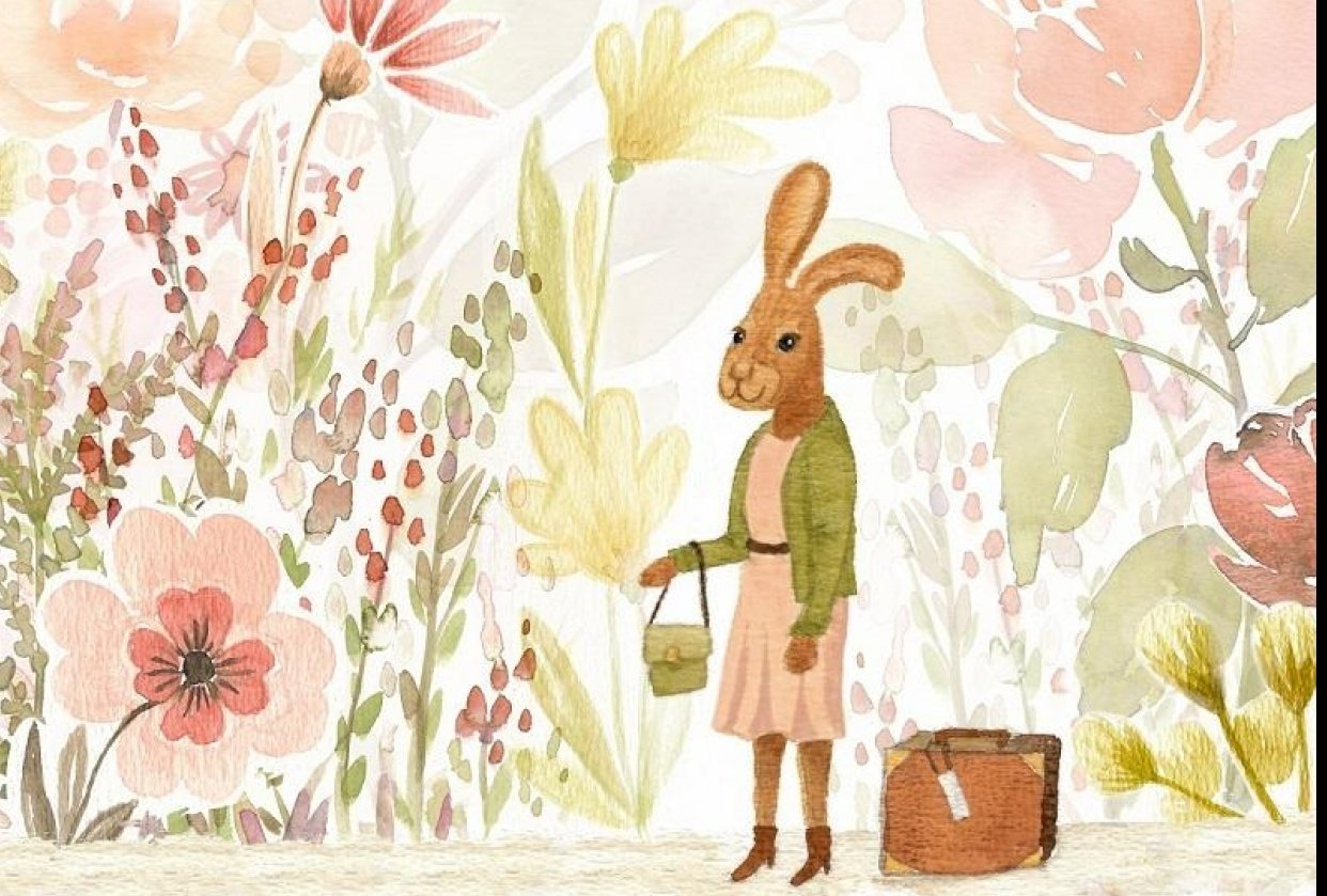 Miss Hare is ready to travel - student project