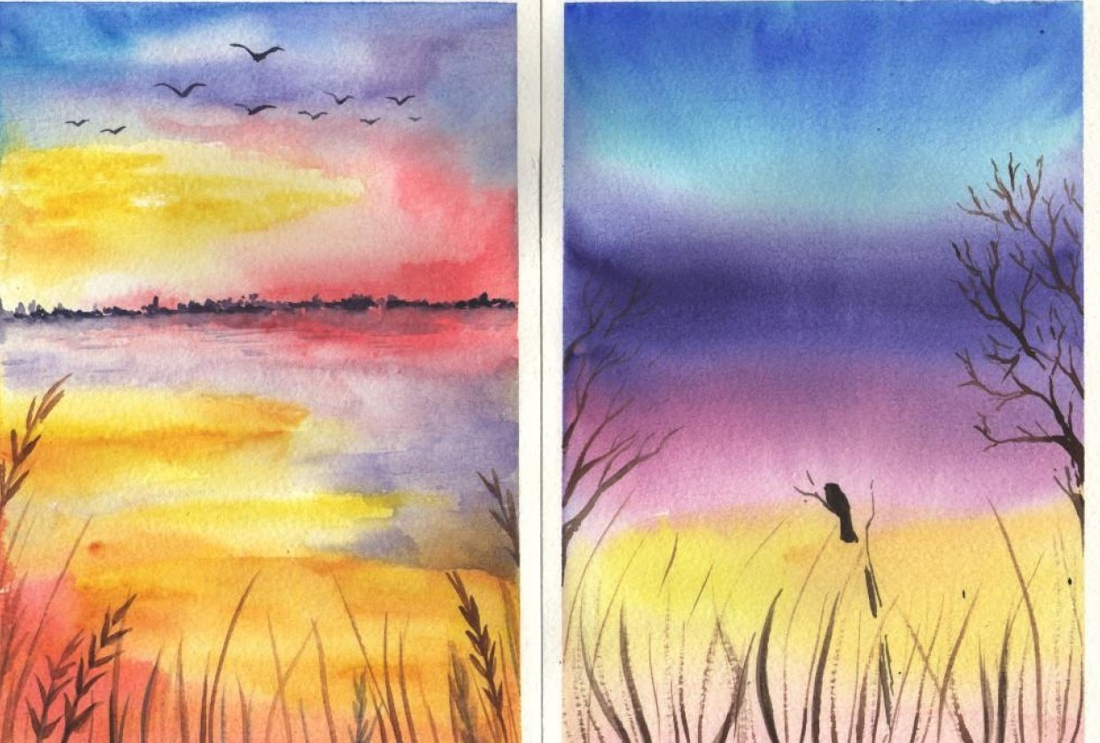 Colorful landscapes - student project