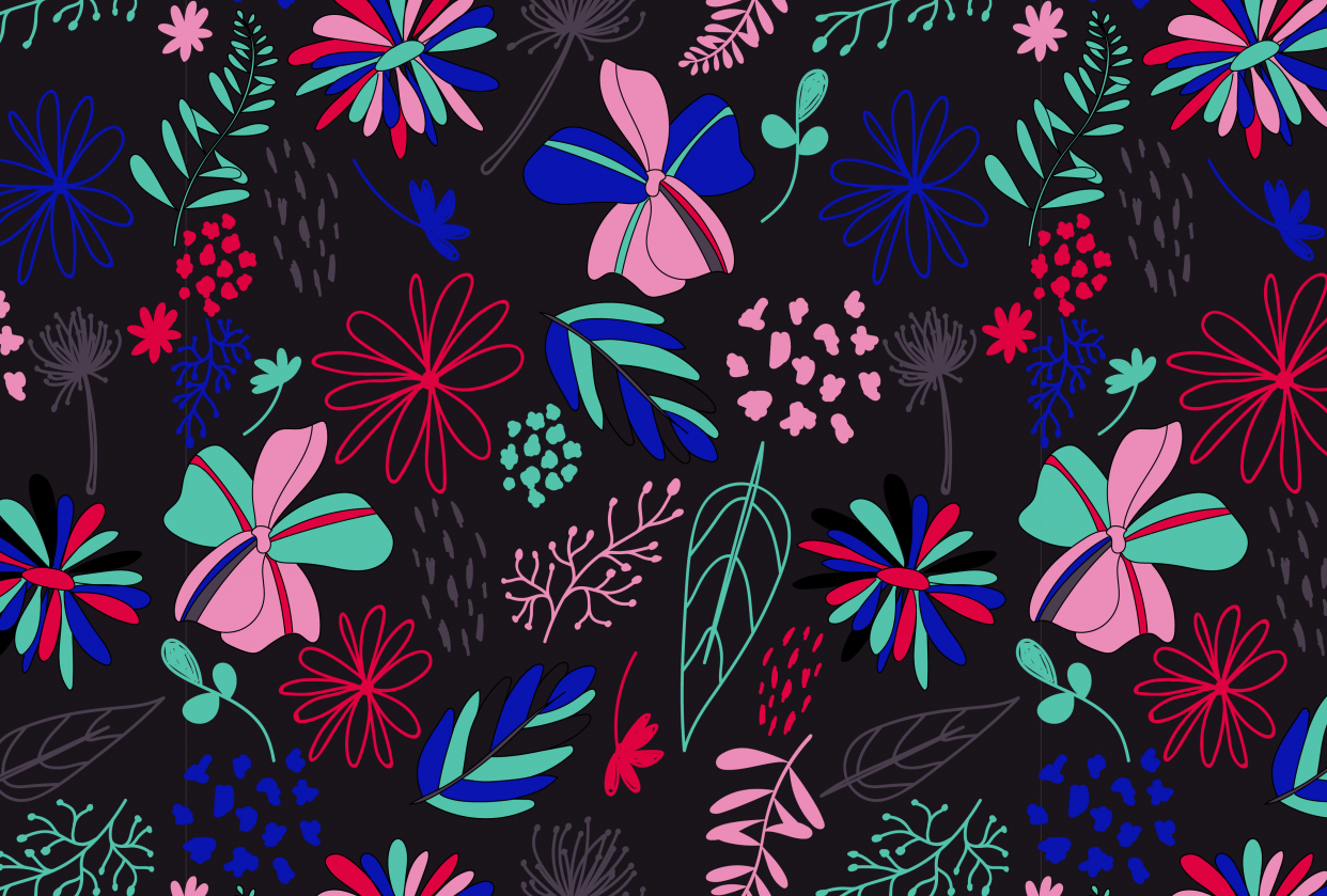 Bright Florals - student project