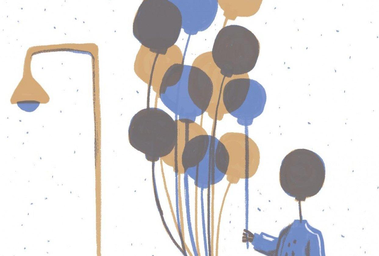 Light Fixture Balloons - student project