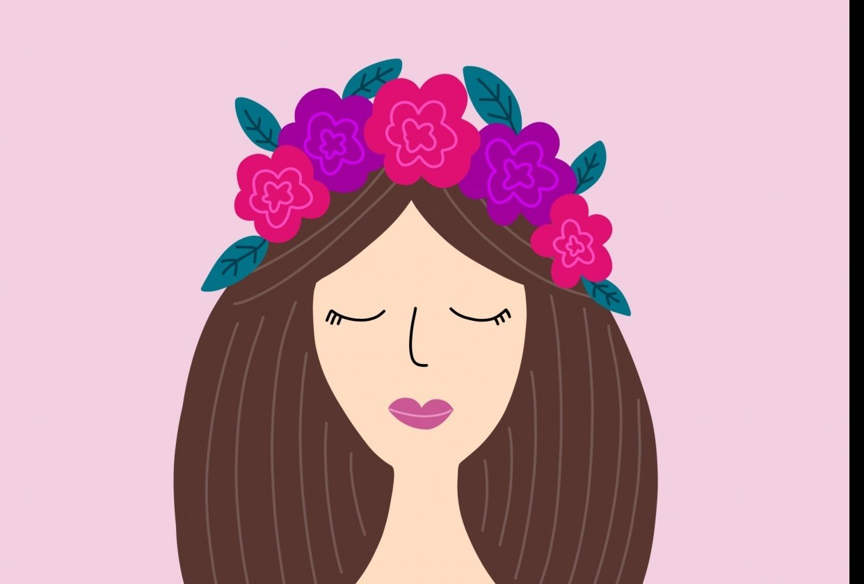 Flower Crown Girl - student project