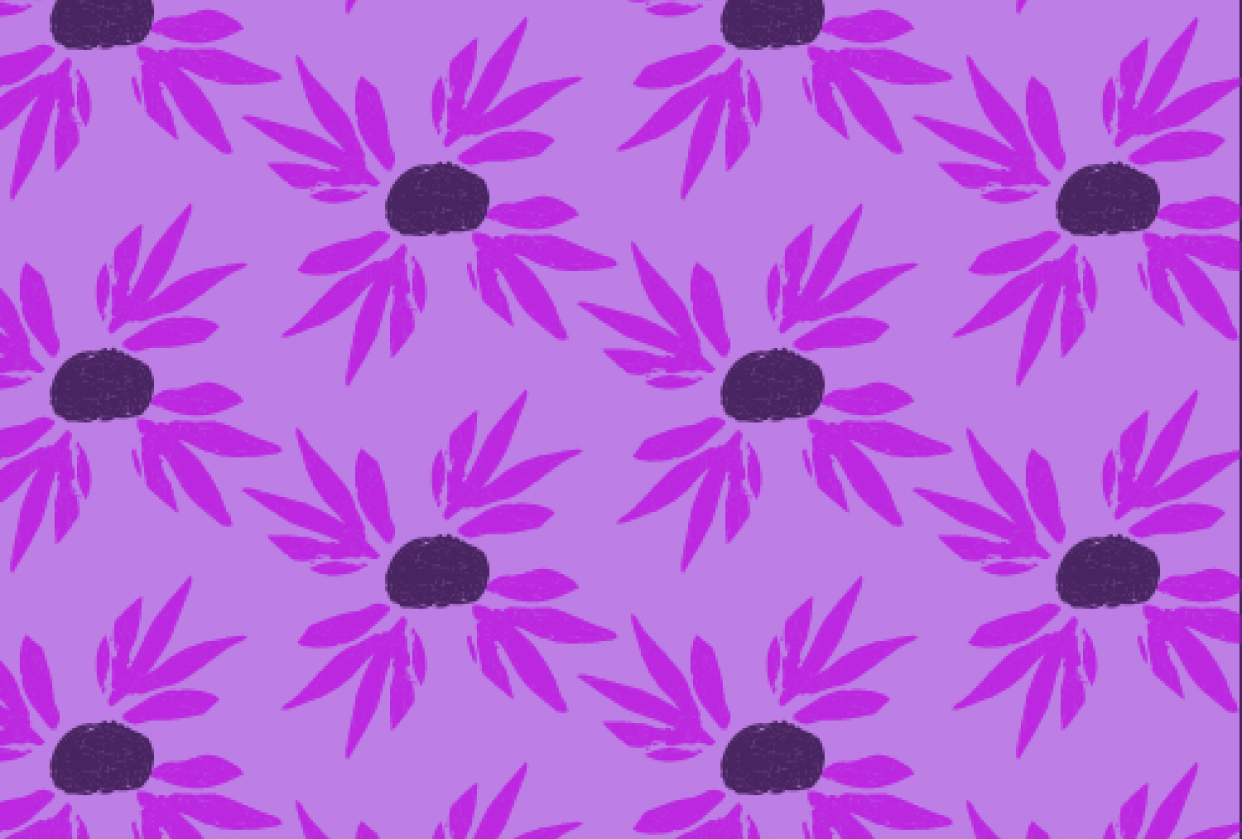 Purple floral - student project