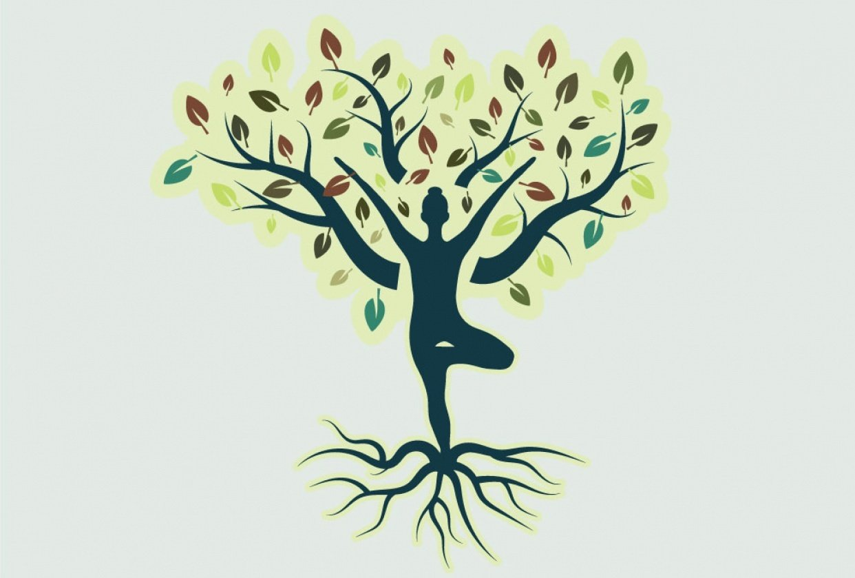 Tree Pose Yoga Logo - student project