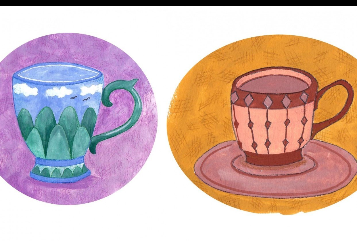 Gouache Teacups - student project