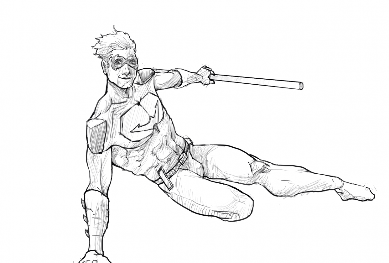 Nightwing sketch - student project