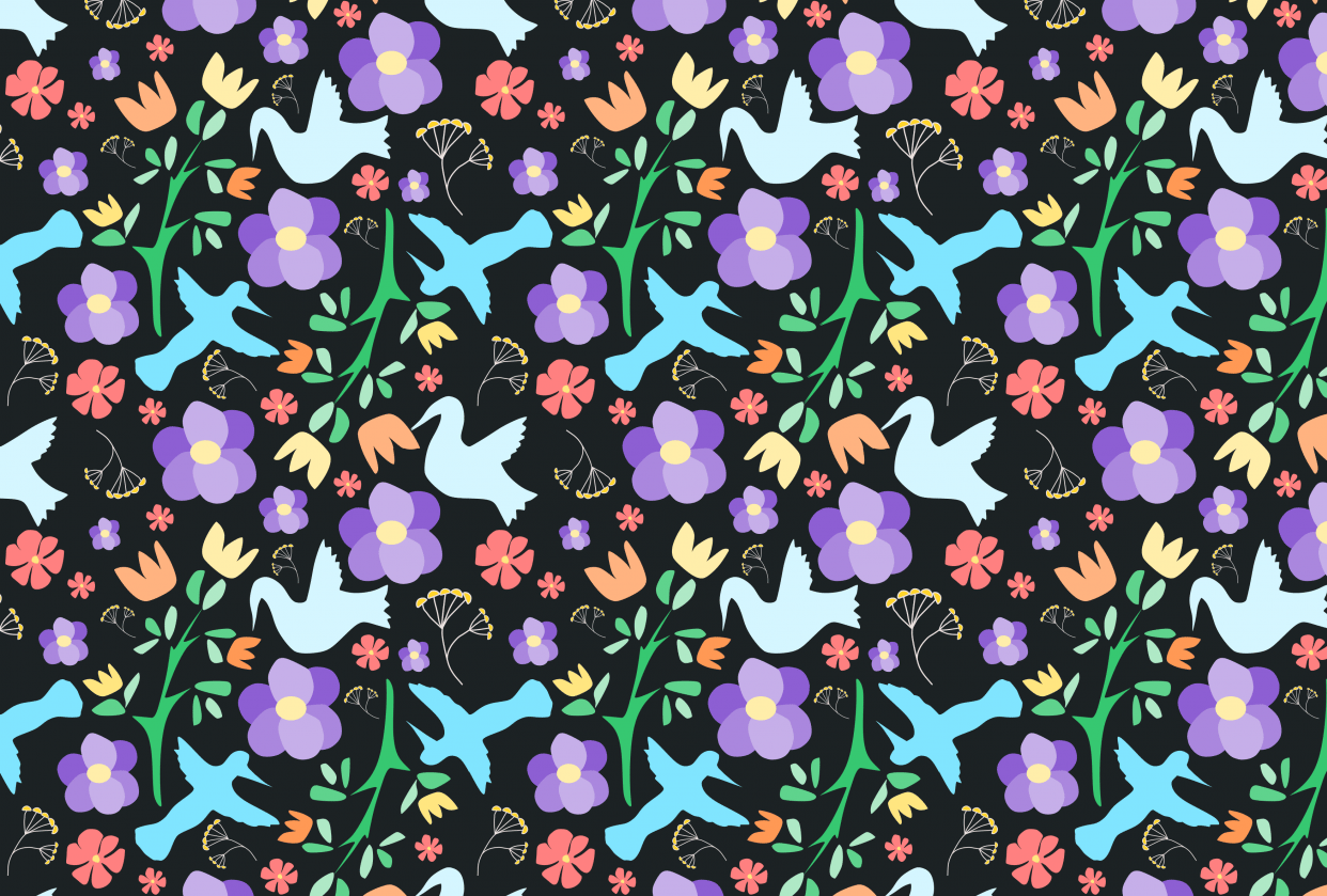 Birds and Flowers - student project