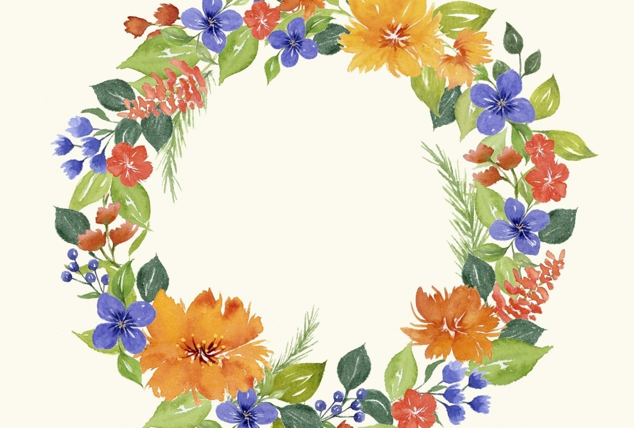 Colorful wreath - student project