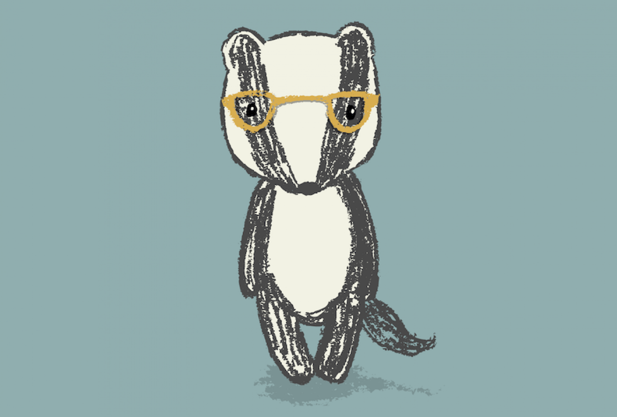 Badger with Glasses - student project