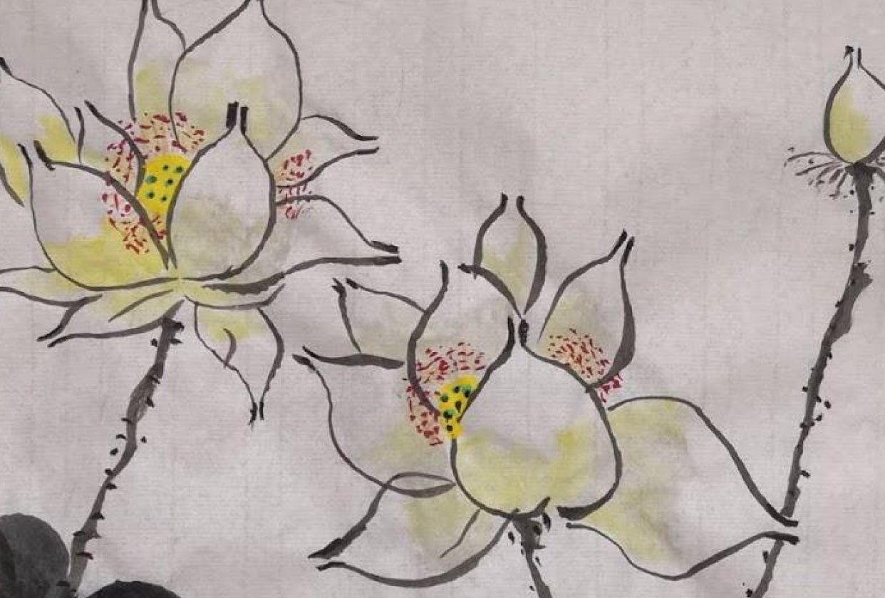 Chinese lily painting - student project