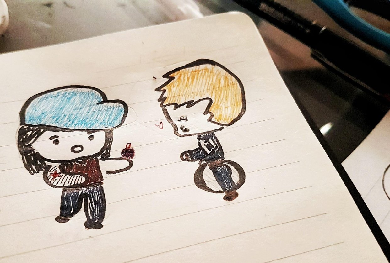 Chibi Steve and Bucky - student project