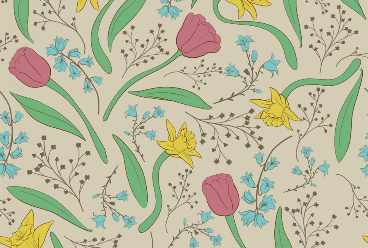Floral Pattern 1st One - student project