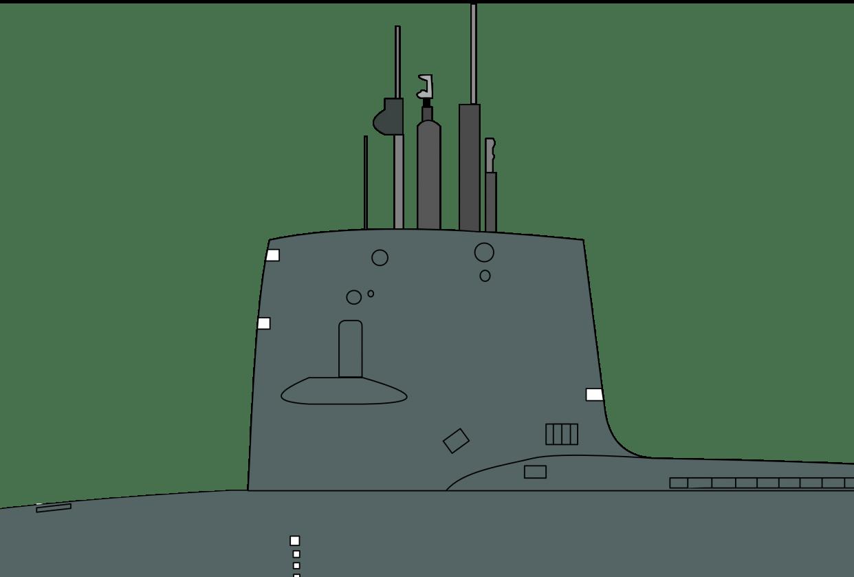 USS Scorpion (SSN-589) Skipjack-class nuclear submarine - student project