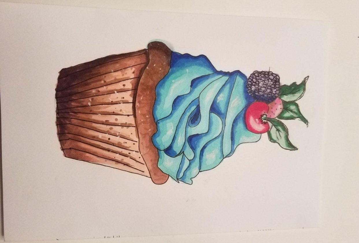 Blue Cupcake! - student project