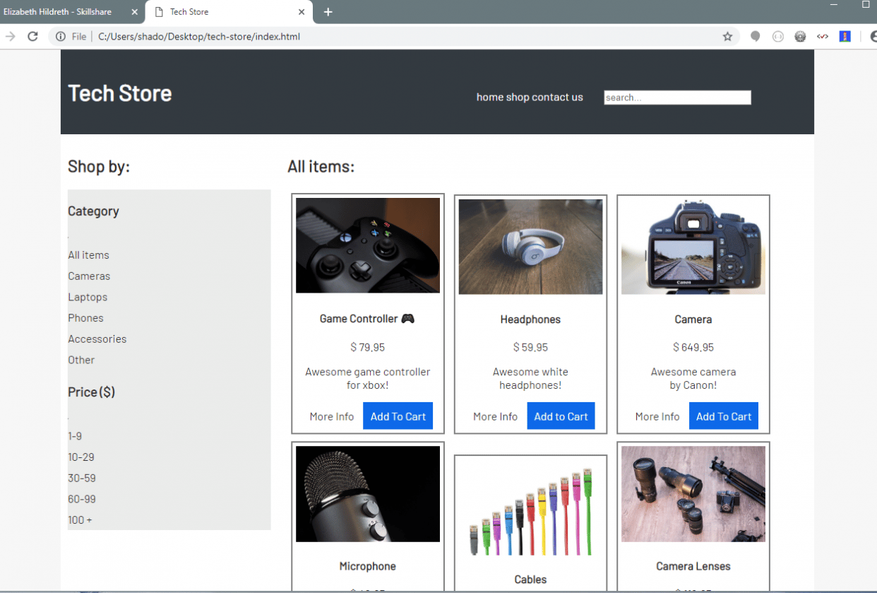 TechStore - student project