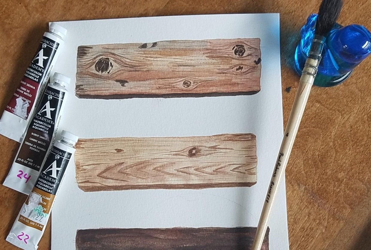 Watercolor Wood - student project