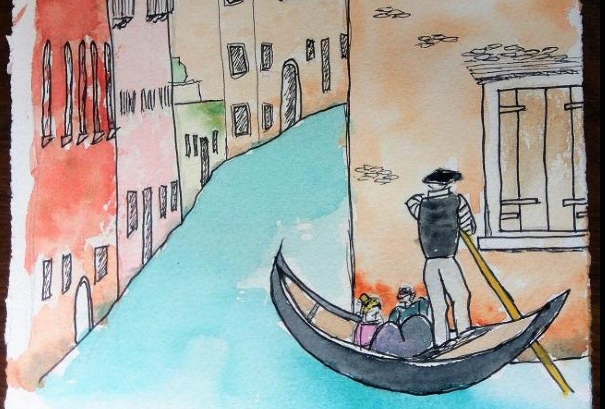 Urban Sketching - Venice - 20190421 - student project