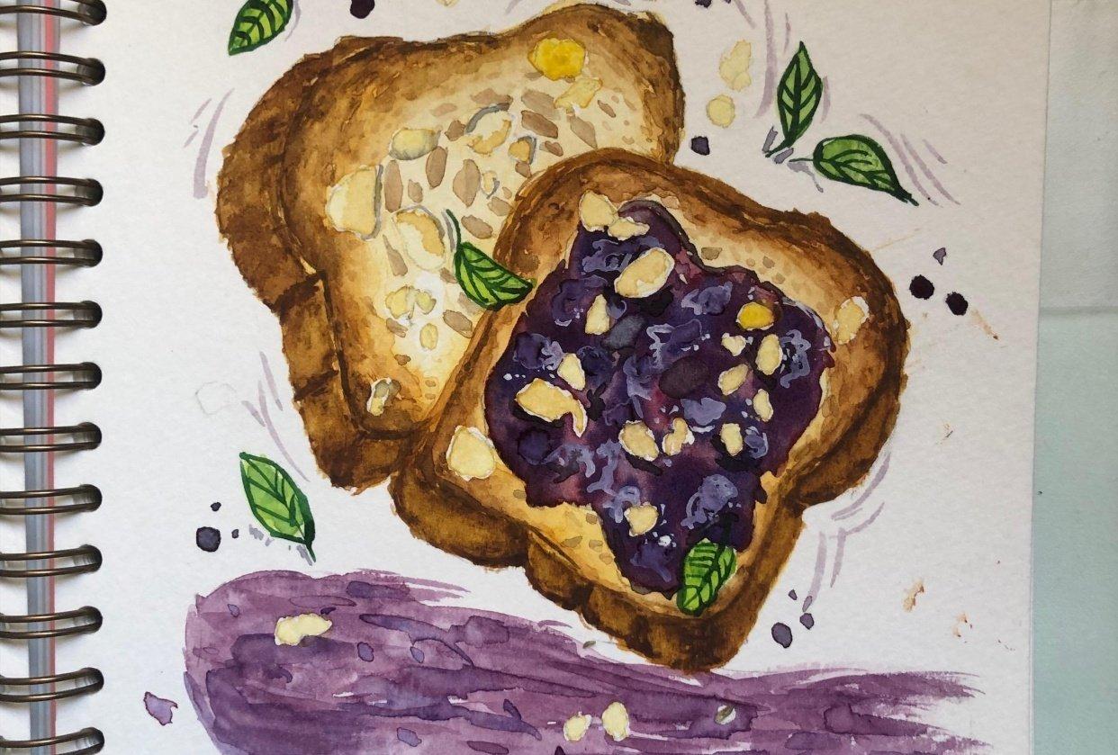 Jam toast - student project