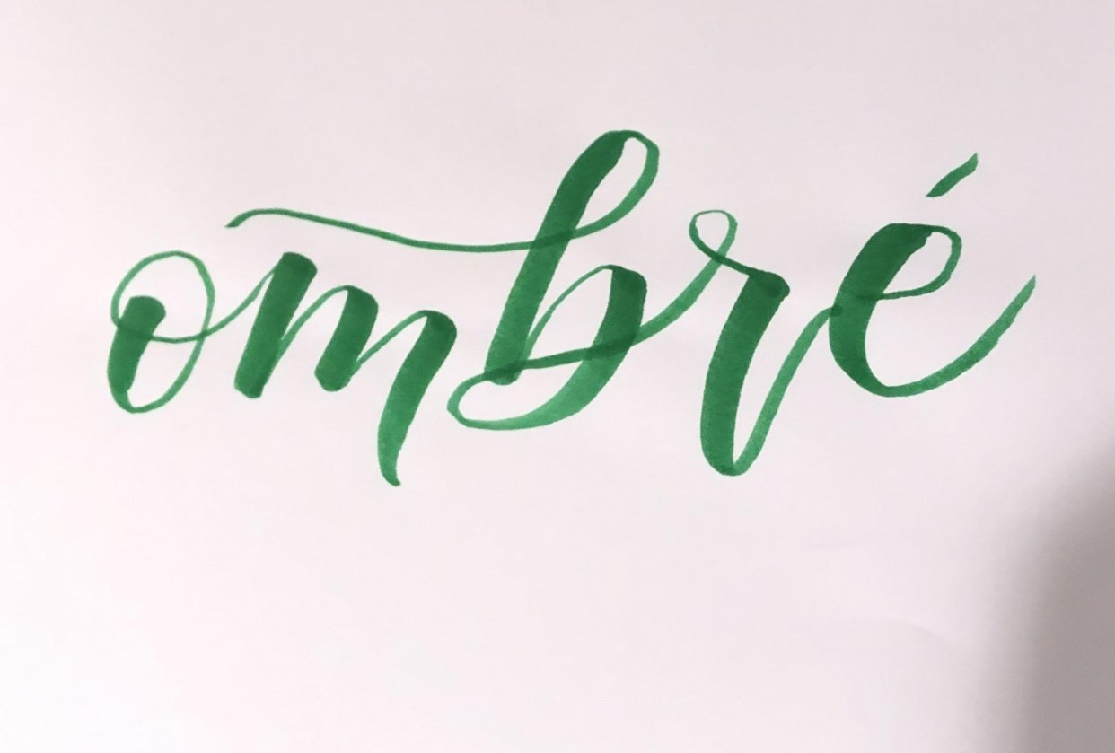 Ecoline Ombre Lettering - student project