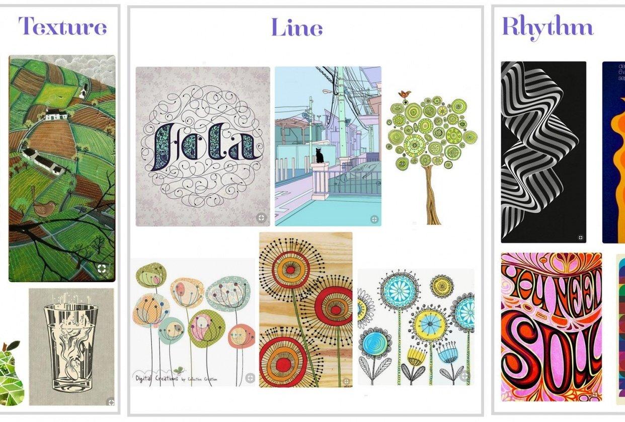Rhythm Line Texture - student project