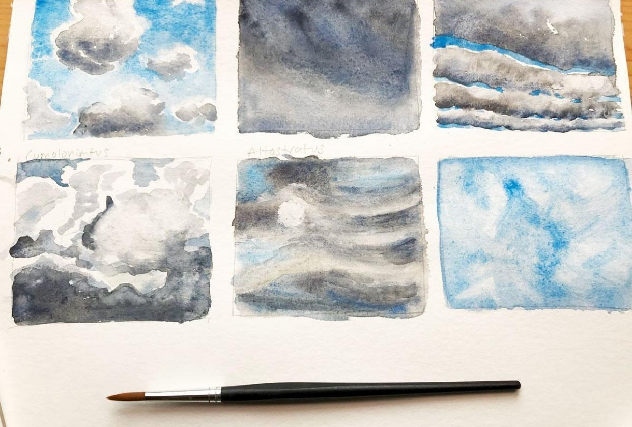 Different Clouds & Sky Paintings - student project