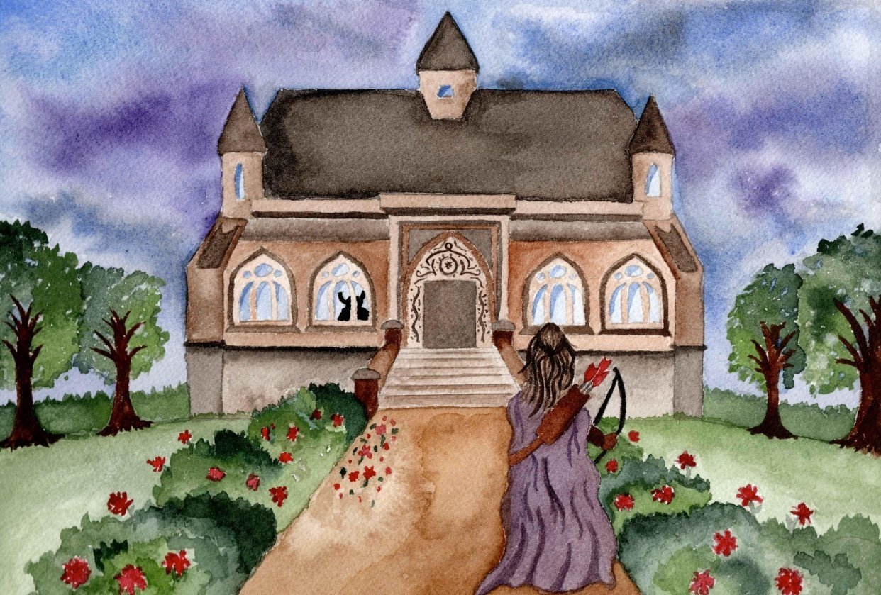 Reimagined Fairytale Watercolor Illustration - student project
